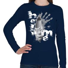 PRINTFASHION helpmeprojectwh-01 - Női hosszú ujjú póló - Sötétkék