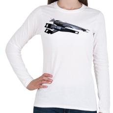 PRINTFASHION Normandia - Női hosszú ujjú póló - Fehér