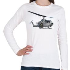 PRINTFASHION AH-1 Cobra - Női hosszú ujjú póló - Fehér