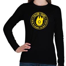 PRINTFASHION Falcon Trans - Női hosszú ujjú póló - Fekete