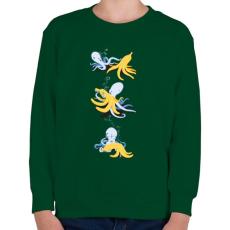 PRINTFASHION Banánparty - Gyerek pulóver - Sötétzöld