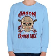PRINTFASHION Üdvözöllek a kristály tónál - Gyerek pulóver - Világoskék