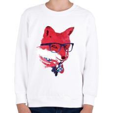 PRINTFASHION American fox - Gyerek pulóver - Fehér