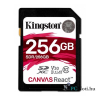 Kingston 256GB SD Canvas React (SDXC Class 10 UHS-I U3) (SDR/256GB) memória kártya