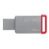 Kingston USB PENDRIVE KINGSTON 32GB DT50 3.1 SZÜRKE-PIROS