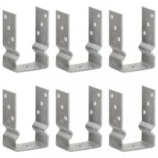 6 db ezüstszínű horganyzott acél kerítéshorgony 9 x 6 x 15 cm építőanyag