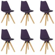 6 db lila étkezőszék bútor