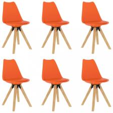 6 db narancssárga étkezőszék bútor