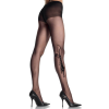 729314 TIGER PANTY HOSE W/TWO STONES EYES O/S BLK