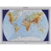 A Föld felszíne és országai domborított térkép ( 55 x 48) - HM
