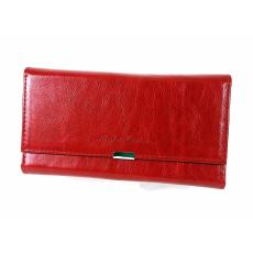 ABSOLUTE Leather Absolut Leather piros, patentos fedelű pincértárca ABS-7432