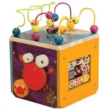 Activity kocka fajáték B.Toys barkácsolás, építés