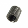 Adapter belső - belső G1/4 to G1/4  knurled black nickel