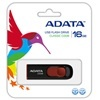 ADATA 16 GB Pendrive USB 2.0 C008 Capless Sliding (fekete-piros)