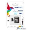 ADATA 16GB SD micro (SDHC Class 10 UHS-I) (AUSDH16GUICL10-RA1) memória kártya adapterrel