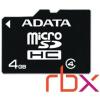 ADATA 4GB SD micro (SDHC Class 4) (AUSDH4GCL4-RA1) memória kártya adapterrel