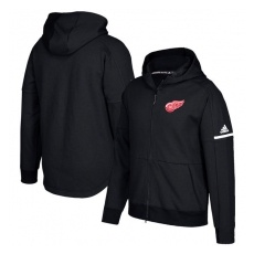Adidas Detroit Red Wings fĂŠrfi kapucnis pulóver black Authentic Pro Squad ID Full-Zip Hood - L