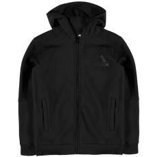 Adidas gyerek cipzáras pulóver - adidas 3S Logo Full Zip Hoody Junior Boys Black