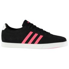 Adidas női sportcipő - adidas Court Set Suede Ladies Trainers Black Pink