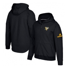 Adidas Pittsburgh Penguins fĂŠrfi kapucnis pulóver black Authentic Pro Squad ID Full-Zip Hood - XXL