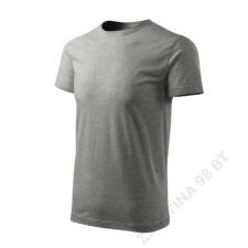 ADLER Basic Free Pólók férfi, sötétszürke melírozott férfi póló