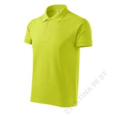 ADLER Cotton ADLER galléros póló férfi, lime szin
