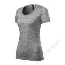 ADLER Merino Rise Pólók női, sötétszürke melírozott női póló