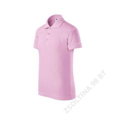 ADLER Pique Polo ADLER galléros póló gyerek, rózsaszín