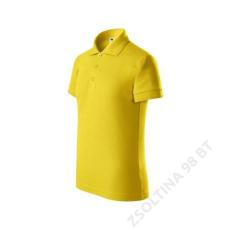 ADLER Pique Polo ADLER galléros póló gyerek, sárga