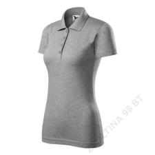 ADLER Single J. Galléros póló női, sötétszürke melírozott női póló