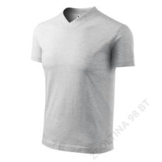 ADLER V-neck ADLER pólók unisex, világosszürke melírozott