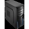 Aerocool V2X Blue Edition Midi-Tower - fekete / kék