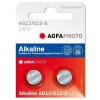 Agfaphoto alkáli gombelem LR43 AG12 (2db)