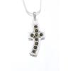 Agrianna Borostyánköves ezüst kereszt medál p-3087z