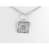 Agrianna Ikrek csillagjegy ezüst medál, négyszögletes