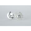 Agrianna Nap hold ezüst fülbevaló