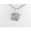Agrianna Rák csillagjegy ezüst medál, négyszögletes