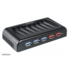 Akasa Connect 7 EX - USB 3.0 Hub inkl. 2x Fast Charging Port AK-HB-11BK
