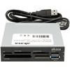 """Akasa Internal beépíthető kártyaolvasó és USB 3.0 kivezetés (3,5"""", fekete)"""