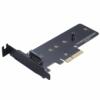 Akasa M.2 X4 PCI-E adapter kártya - fekete /AK-PCCM2P-01/