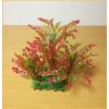 Akváriumi műnövény vöröses árnyalatú hullámos levelekkel (28.5 x 40 cm)