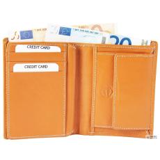 Akzent férfi pénztárca valódi bőr. formátum 10 x 12 cm.