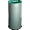 Alda EKO fém szemetes kosarak szelektív hulladékhoz, 45 l térfogat, Kapacitás: 45 L, Anyag: fém, Típus: nyitott, Szín: Szürke, Kupak színe: Zöld, Magasság:%