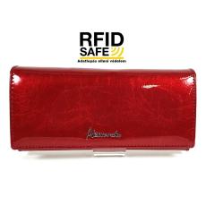 Alessandro Paoli RF védett hosszú hajszáleres piros lakk pénztárca 61-07