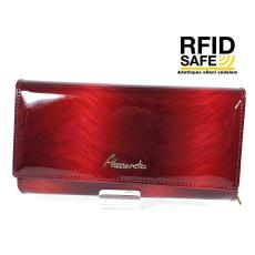 Alessandro Paoli RF védett hosszú, irattartós brillant piros pénztárca 63-69
