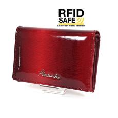 Alessandro Paoli RF védett kis fedeles, belső keretes piros pénztárca 62-41