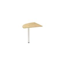 Alfa Office Alfa 200 asztal toldóelem, 80 x 80 x 74,2 cm, negyedkör, vadkörte mintázat, RAL9010% irodabútor