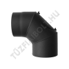 Alföldi-MAGYAR Füstcsõ könyök tisztítónyílással 150/90° fekete
