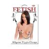 -- Alligator Nipple Clamps.