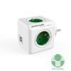 Allocacoc PowerCube Original USB hálózati elosztó fehér-zöld /1202GN/DEOUPC/ (1202GN/DEOUPC)